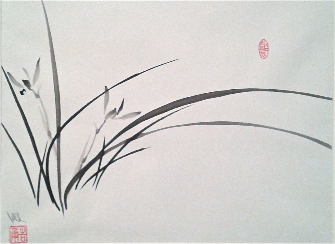 Chinese Orchid Painting